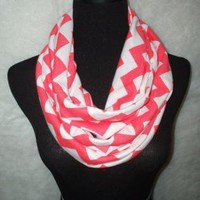 Watermelon Chevron Infinity Scarf-Circle, Loop, Eternity All