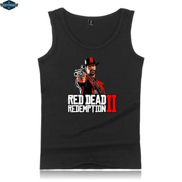 2018 Red Dead Redemption 2 Cool Tank Tops O-neck Sleeveless Men/Women Popular Outwork Casual Fashion Clothes Plue Size XXS-4XL