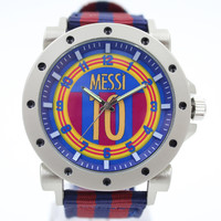 Lionel Messi Football Jersey number 10 style soccer club design souvenir watch quartz men fashion watches
