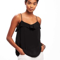 Ruffled Crepe Cami for Women | Old Navy