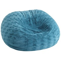 Fuzzy Bean Bag - Teal