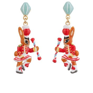 N2 by Les Néréides BRASS BAND RABBIT MAJORETTE EARRINGS