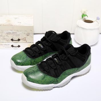 Air Jordan 11 Retro Low Green Snake AJ11 Sneakers - Best Deal Online