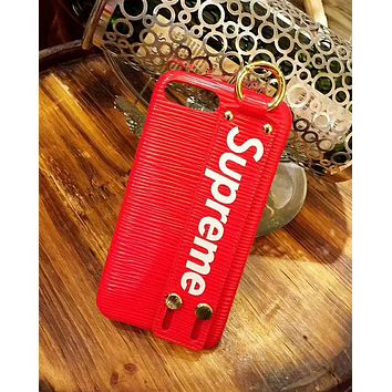 Supreme Tide brand personality wristband iphone7plus phone case red