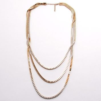 Multitasking Necklace - White/Gold