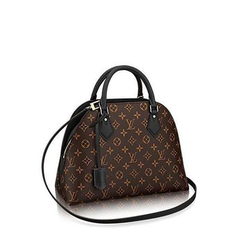 CREYDC0 Authentic Louis Vuitton Monogram Canvas ALMA B'N'B Bag Handbag Noir Article: M41780 Made in France