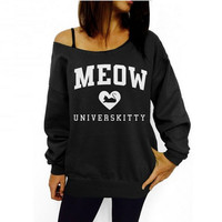 Fashion Printing Letters Cotton Sweater-2