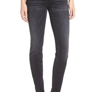 Current/Elliott The Ankle Raw Hem Skinny Jeans (Bad Company) | Nordstrom