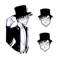 Sticker Set - Tuxedo Mask (Sailor Moon)