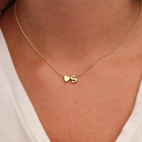 Letter Necklace For Women, Letter & Heart Necklaces for Women