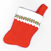 Factory Direct Craft Package of 36 - Small Red Felt Christmas Stockings (5 inches high) for Gift Cards, Small Gifts, Business Cards & other Holiday Decorating