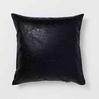 Black Crackle Pillow
