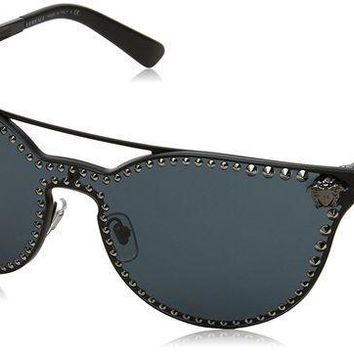 ESBON3F Versace Women's Rock Brow Bar Sunglasses