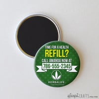 Herbalife magnet, Herbalife business card, Herbalife pin, Custom Herbalife magnets, pack of 6