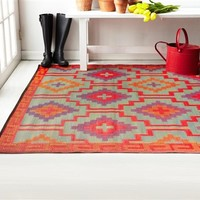 Linx Eco-Friendly Woven College Rug - Orange & Violet College Dorm Decorations Cool Dorm Decor