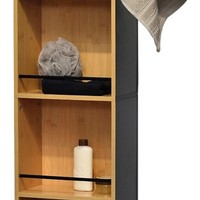 Evideco Swivel Storage Cabinet Organizer Freestanding Linen Tower Mirror Phuket - Transitional - Bathroom Cabinets And Shelves - by EVIDECO