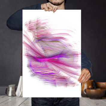 Pink Minimalistic Abstract Painting Print Ready To Download - Bright Art Print | Pink Purple Abstract Wall Art