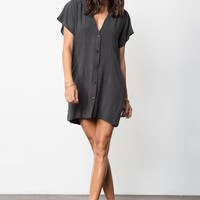 STILLWATER | Wildfire Mini Dress - Wash Black