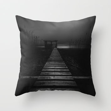 On the wrong side of the lake 4 Throw Pillow by HappyMelvin