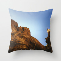 Nature Throw Pillow Cover Includes Pillow Insert - Smith Rock Bend Oregon