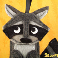 Felt  Raccoon, Felt Woodland Animal Ornament - Matilda the Raccoon