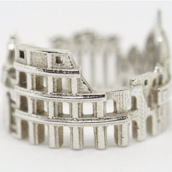 Rome Cityscape Statement Ring