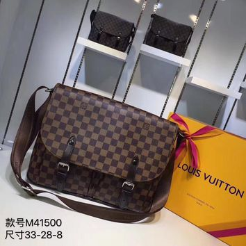Kuyou Lv Louis Vuitton Gb29714 M41500 Christopher Brown Messenger Bag 33x 28x 8cm