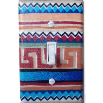 Santa Fe Single Toggle Switchplate, Switch Plate decor