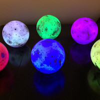 Petite Color Moon Light - moon, light, nightlight, moonlight, waterproof, LED, glow, rainbow