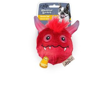 All For Paws Dog Red Monster Bunch Squeaker Ball