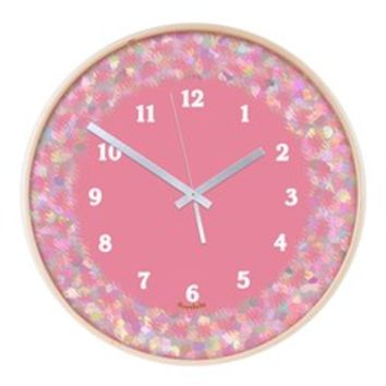 Pink and White Mosaic Wooden Wall Clock> Wall Clocks in Many Colors and Styles> Scarebaby Design