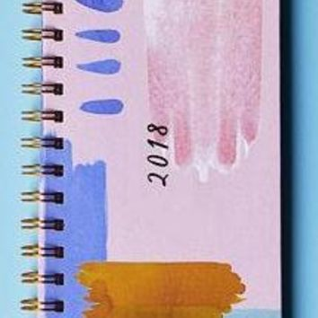2018 PLANNER CLEARANCE - Undated Weekly Planner in Watercolor Stains Art