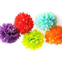 LARGE Sized Tissue Paper Pom Pom | Bridal, Baby Shower, Wedding, Party Nursery Decor