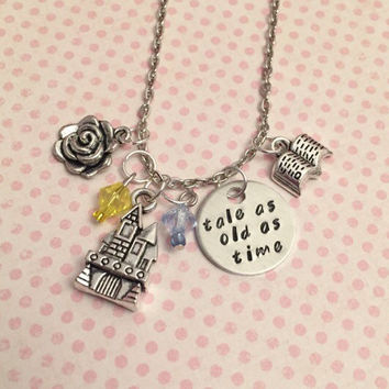 Tale As Old As Time Necklace - Fairytale Jewelry - Once Upon A Time Jewelry - Princess Jewelry - Beauty and Beast Inspired Jewelry
