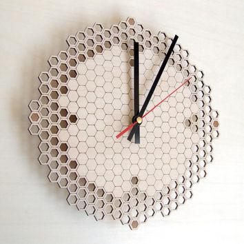 Wall clock - Honeycomb pattern regular