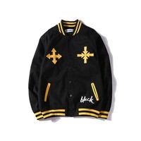 AUGUAU Off White Yellow arrow Jacket