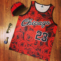 Indie Designs Floral Print Basketball Jersey