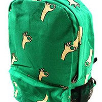 Sweet Green OK Print Canvas Backpack from styleonline