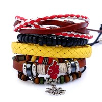 Stylish New Arrival Great Deal Gift Shiny Hot Sale Awesome Leather Set Ladies Bracelet [250989117469]
