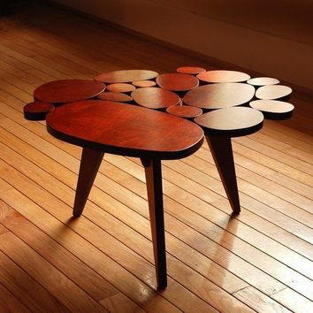 $399 Modern Coffee Circles Table Small Maple Plywood by michaelarras