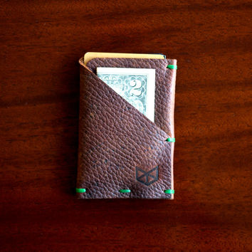 Weekend Wallet | Mens Greasy Leather Hand Stitched Minimal Slim