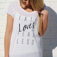 Good hYOUman-Fate Loves The Fearless Tee