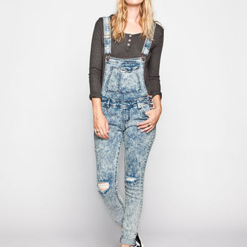 Tinseltown Acid Wash Womens Denim Overalls Acid Wash  In Sizes