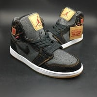 Levis x Air Jordan 1 Men Basketball Shoes Sneaker