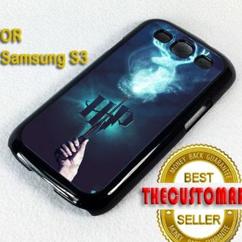 stag patronus harry potter - For Samsung Galaxy S3 Black Case Cover