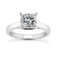 1 3/4ct tw Diamond Solitaire Engagement Ring in 14K White Gold