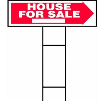 """Hy-Ko RS-801 House For Sale Lawn Sign with H-Bracket, 10"""" x 24"""""""