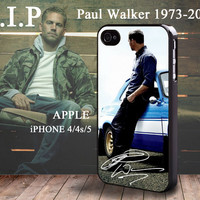 Paul Walker Signature Autograph iphone 4 4S case iphone 5 Case Fast & Furious Brian O'Conner