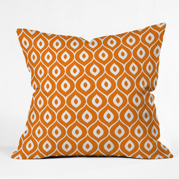 Aimee St Hill Leela Orange Throw Pillow