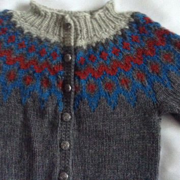 baby cardigan, baby sweater, sweater with buttons, 6-12 months,  handknit, ready to ship, pure new wool, unisex, kids fall